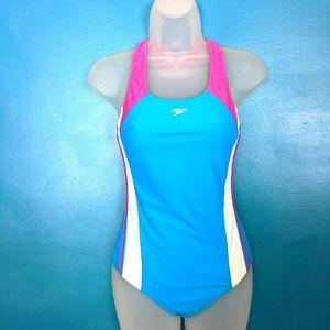 Speedo multi color Racetrack Swimsuit 16